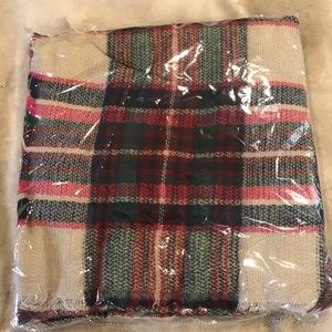 Plaid blanket scarf! New in bag! Never used!